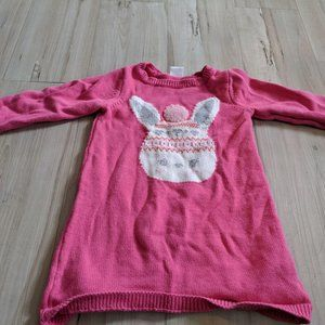 Gymboree Pink Tunic Sweater BUNNY Flurry Dress 2T